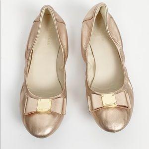 Cole Haan Tali Modern Ballet Flat Rose Gold